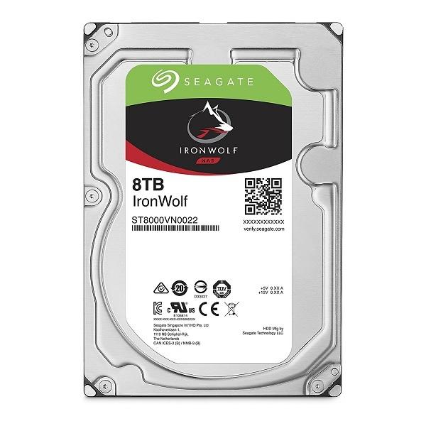 【送料無料】Seagate ST8000VN0022 IronWolf [SATA 7200rpm 3.5インチ内蔵HDD (8TB)]
