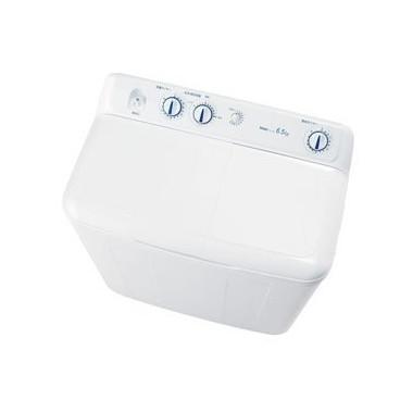 【送料無料】ハイアール JW-W65E ホワイト [2槽式洗濯機(6.5kg)] スパイラルパルセーター ステンレス脱水槽 強力洗浄 時間短縮 節水 敏感肌の方におすすめ 粉石けん使用可能 黒カビ抑制