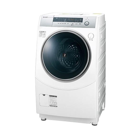 【送料無料】シャープ 洗濯機 ドラム式 ES-H10B-WL ホワイト系 左開き ななめ型 洗濯乾燥機 洗濯10kg 乾燥6kg 省エネ 節水 プラズマクラスター 消臭 静か 低騒音 こすり洗い マイクロ高圧洗浄 SHARP