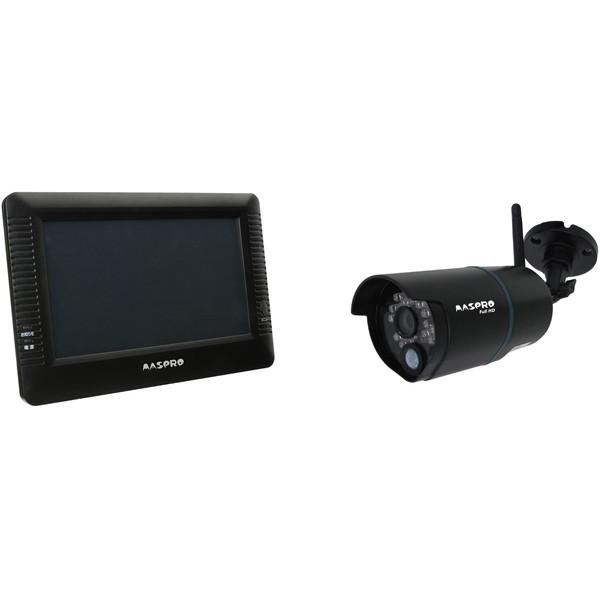 【送料無料】MASPRO WHC10M2 ブラック [モニター&ワイヤレスフルHDカメラセット]