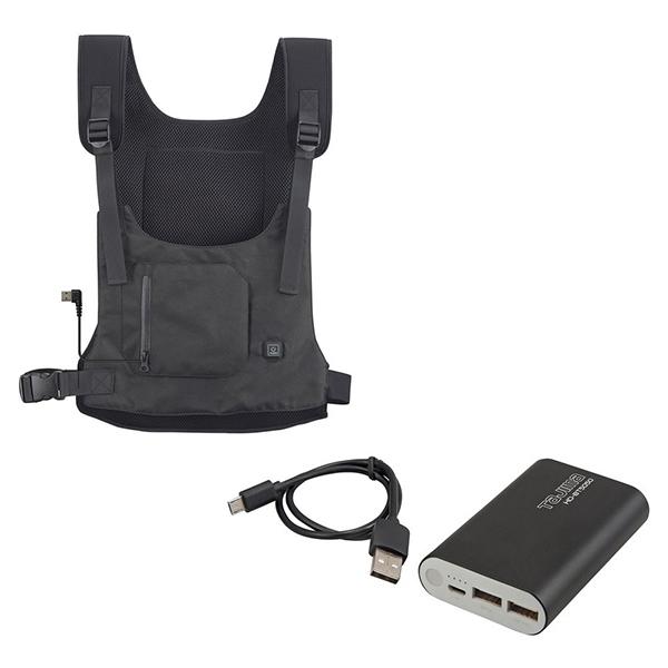 タジマ(TAJIMA) HD-VE501N + HD-BT5050 [暖雅ベスト 5Vとバッテリーセット(リチウムイオン充電池)] フリーサイズ TJM 温着ヒーター 防寒具 寒さ対策 防寒対策 HDVE501N + HDBT5050