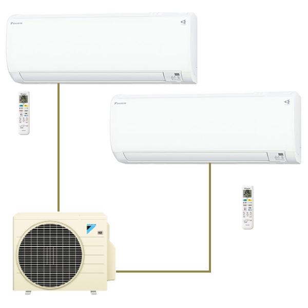 【送料無料】エアコン ダイキン マルチエアコン 壁掛け DAIKIN PAC-45RV ホワイト マルチパック(主に6畳 + 10畳)