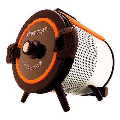 テドンF&D(Daedong F&D co.LTD) DR-750N-W (限定カラー:ホワイト&オレンジ) ドラムクック(drumcook) [自動調理器] 煮る 焼く 炒める 回転 ドラム式 スチーム ヘルシー調理 やきいも 焼き栗 鶏の丸焼き DR750N (TUF)【クーポン対象商品】