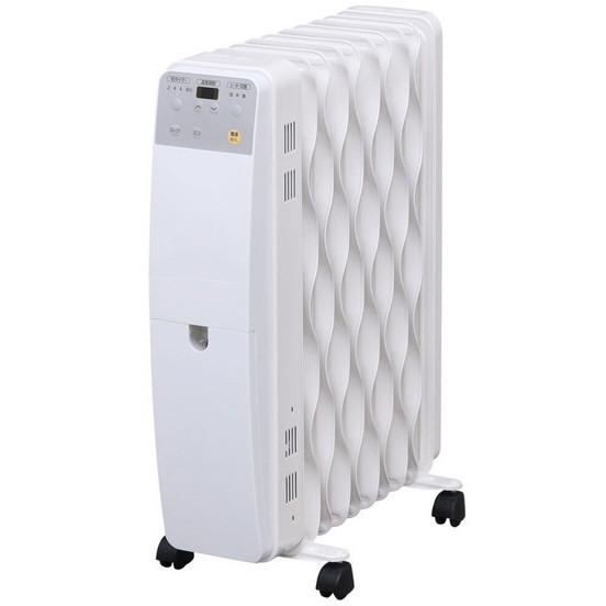 【送料無料】アイリスオーヤマ IWH-1210M-W ホワイト [オイルヒーター(木造5畳/コンクリ8畳)]