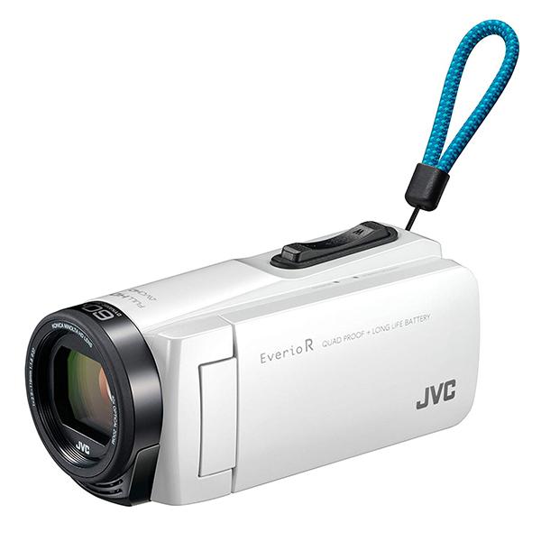 【送料無料】JVC (ビクター/VICTOR) ビデオカメラ 32GB 大容量バッテリー GZ-R470-W シャインホワイト Everio R(エブリオ) 約5時間連続使用可能 運動会 学芸会 旅行 アウトドア 卒園 入園 卒業式 入学式 成人式 結婚式 出産 海 プール 小型 小さい