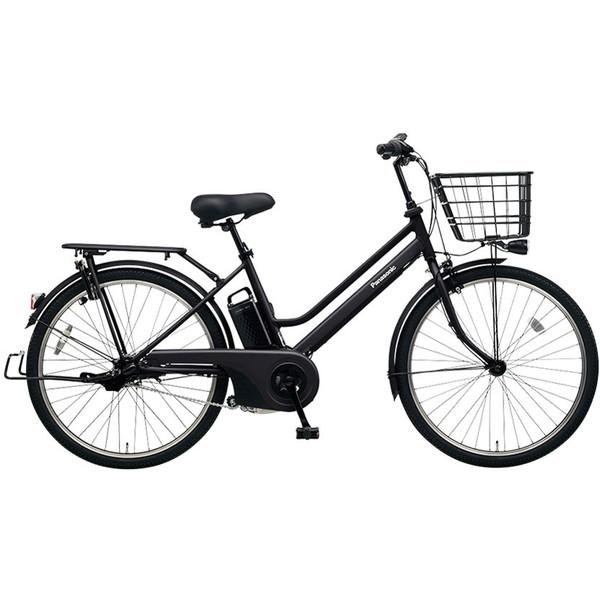 【送料無料】PANASONIC BE-ELST634-B2 マットジェットブラック ティモ・S [電動アシスト自転車(26インチ・内装3段変速)]【同梱配送不可】【代引き不可】【本州以外配送不可】