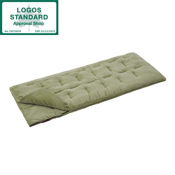 寝袋 洗える シェラフ 封筒型 暖かい 連結 ロゴス(LOGOS) 丸洗いやわらかシュラフ・-2 No.72600560 フランネル 封筒型シュラフ 収納バッグ付き