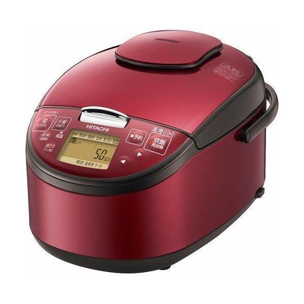 【送料無料】日立 RZ-H10BJ-R レッド [圧力IH炊き飯器(5.5合炊き)]