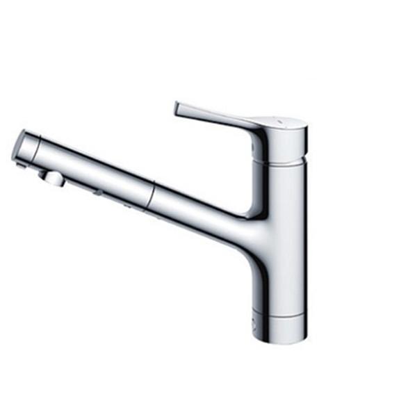 TOTO TKS05305J GGシリーズ (台所用水栓) [シングル混合水栓 (ハンドシャワー・吐水切り替えタイプ・台付き1穴)]