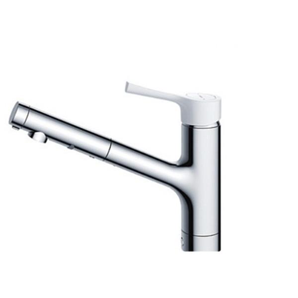 【送料無料】TOTO TKS05306J GGシリーズ (台所用水栓) [シングル混合水栓 (ハンドシャワー・吐水切り替えタイプ・台付き1穴・樹脂ハンドル)]