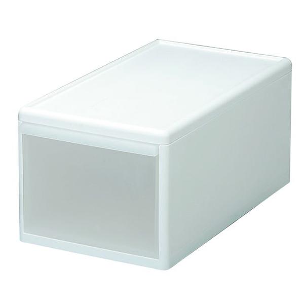組み合わせ自由自在の引出し収納ユニット(幅3タイプ)幅に関係なく自由に組み合わせができます。幅が同じなら、しっかりジョイントも可能です。 吉川国工業所 MOS-02 組み合わせて使える収納ケース ミディM ホワイト (幅25.5×奥行46.5×高さ21.5cm) ユニット収納 押入れ収納 衣類収納 収納ボックス