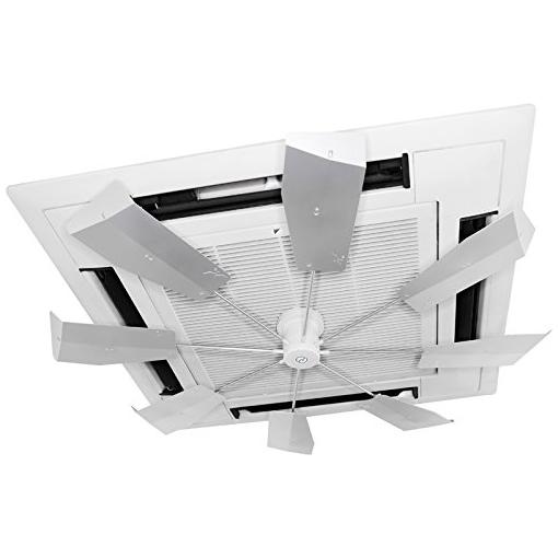 【送料無料】潮 ハイブリッドファン HBF-FJR S/W シルバー 風よけ 直撃風 拡散 空調効果向上 省エネ エコ空間 CO2削減 風除け