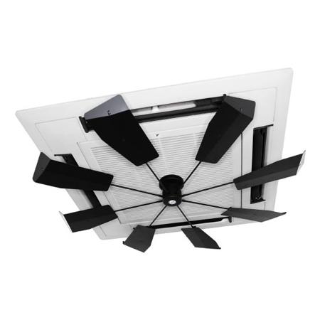 【送料無料】潮 ハイブリッドファン HBF-FJR B/B ブラック 風よけ 直撃風 拡散 空調効果向上 省エネ エコ空間 CO2削減 風除け
