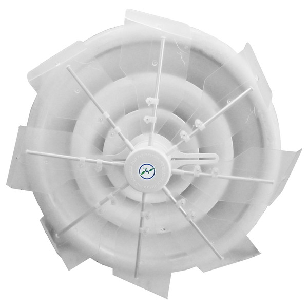【送料無料】潮 ハイブリッドファン HBF-TJR C/W ハーフクリアー 直撃風拡散 空調効果向上 省エネ エコ空間 CO2削減
