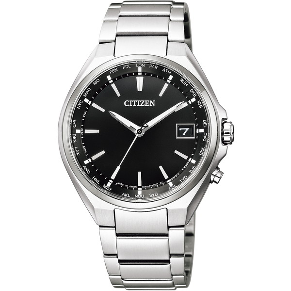 CITIZEN(シチズン) CB1120-50E ブラック×シルバー アテッサ [エコ・ドライブ電波時計 (メンズウォッチ)]