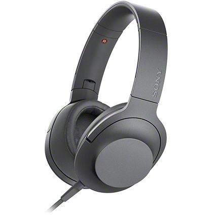 【送料無料】 SONY (ソニー) MDR-H600A B グレイッシュブラック 黒 h.ear on 2 [ダイナミック密閉型ヘッドホン(マイク&コントローラー搭載・ハイレゾ対応)] ハンズフリー スマホ対応 折り畳み 贈り物 誕生日
