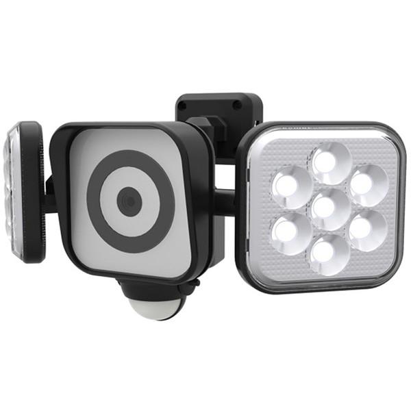 ムサシ C-AC8160 RITEX [フリーアーム式LEDセンサーライト 8W×2灯(防犯カメラ付) ]