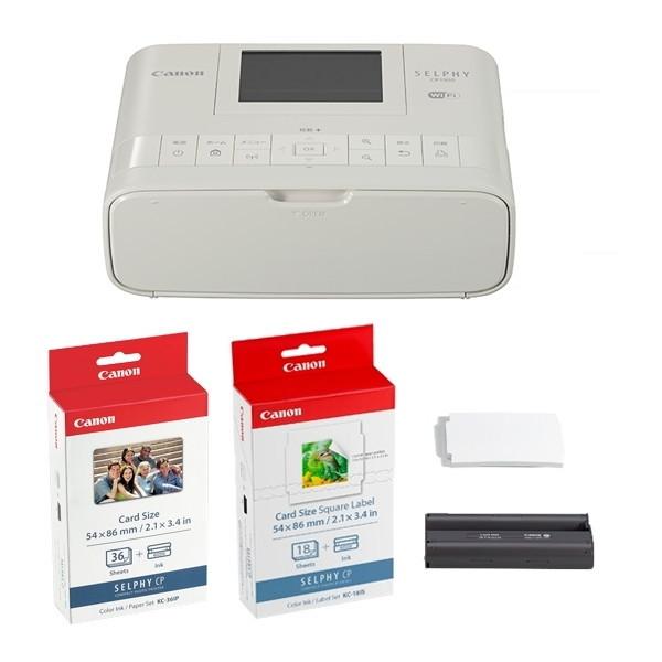 CANON CP1300(WH) CARDPRINTKIT ホワイト SELPHY(セルフィー) [コンパクトフォトプリンター カードプリントキット]