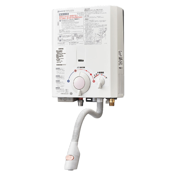 NORITZ GQ-531MW-LP 531シリーズ [ガス小型湯沸器(LPガス用・5号・給湯専用・台所専用・屋内壁掛形)]