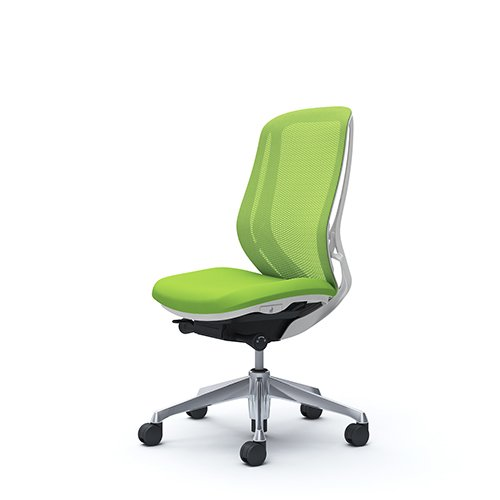 オフィスチェア デスクチェア オカムラ シルフィー 肘なし 背メッシュ ハイ C635BWFMP5 ライムグリーン ワークチェア パソコンチェア 事務椅子 イス おしゃれ 在宅ワーク テレワーク 在宅勤務 リモートワーク