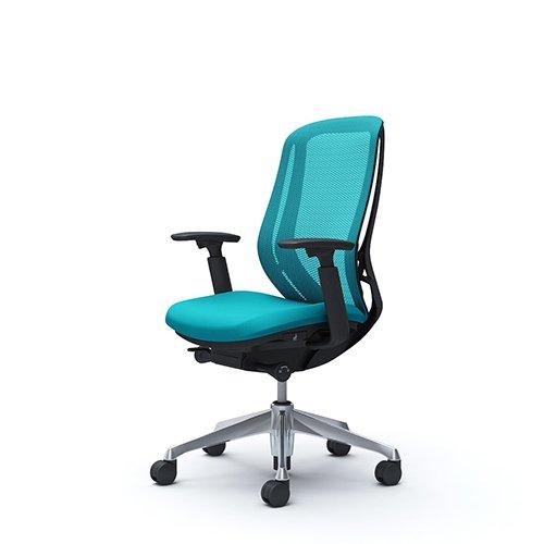 オフィスチェア デスクチェア オカムラ シルフィー 可動肘 背メッシュ ハイ C685BRFMR6 ブルーグリーン ワークチェア パソコンチェア 事務椅子 イス おしゃれ 在宅ワーク テレワーク 在宅勤務 リモートワーク