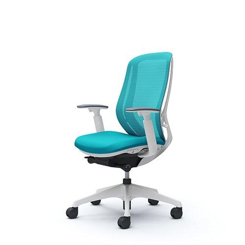 オフィスチェア デスクチェア オカムラ シルフィー 可動肘 背メッシュ ハイ C685XWFMR6 ブルーグリーン ワークチェア パソコンチェア 事務椅子 イス おしゃれ 在宅ワーク テレワーク 在宅勤務 リモートワーク