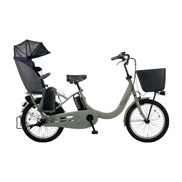 PANASONIC BE-ELRE03-G マットオリーブ ギュット・クルームR・EX [電動アシスト自転車(20インチ・内装3段変速)] メーカー直送