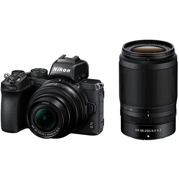 高い描写力と多彩な表現力を小型・軽量ボディーに凝縮した、ニコンDXフォーマットミラーレスカメラ Nikon Z 50 ダブルズームキット [デジタルミラーレス一眼カメラ (2088万画素)]