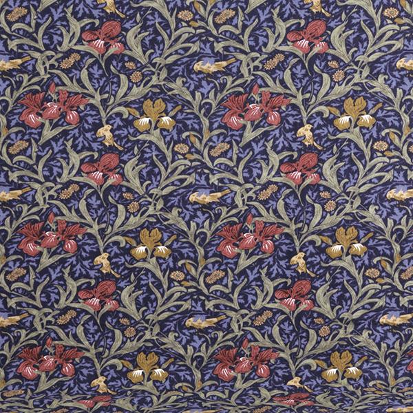 ロマンス小杉 2847-9414-7700 V&Aウォームパイル掛け布団カバー ブルー アイリス柄 ダブル