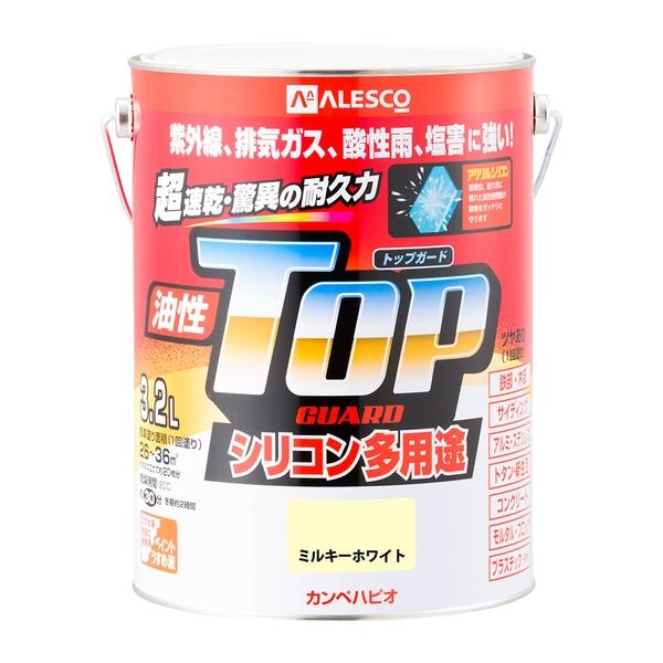 カンペハピオ 油性トップガード ミルキーホワイト 3.2L