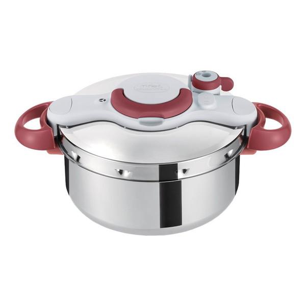 T-fal P4620669 ルビーレッド クリプソ ミニット イージー [圧力鍋 4.5L(IH対応)] ティファール ワンタッチ開閉 従来品より30%軽量 時短クッキング 調理器具 料理