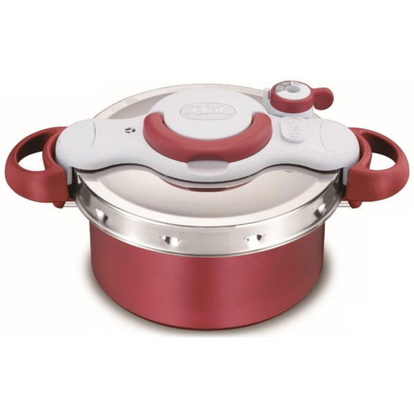 圧力鍋 ティファール 鍋 IH対応 ギフト 2in1 4.2L ワンタッチ開閉 時短 煮込み 炒めもの 簡単 T-fal P4604236 レッド クリプソ ミニット デュオ 調理器具 料理
