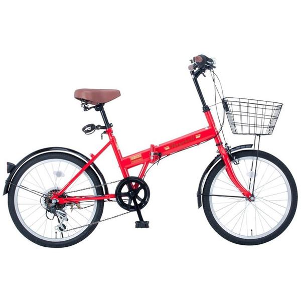 【送料無料】Raychell FB-206R レッド (35651) [折りたたみ自転車 (20×1.75・シマノ6段変速)]【同梱配送不可】【代引き不可】【沖縄・離島配送不可】