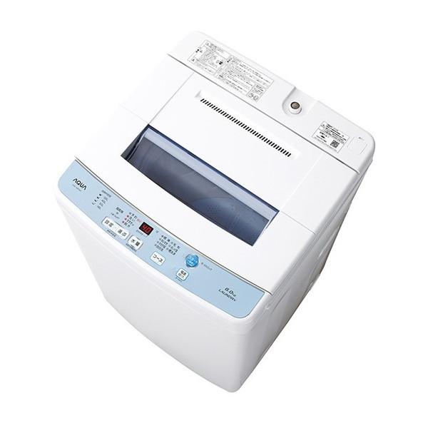 【送料無料】AQUA AQW-S60F ホワイト [簡易乾燥機能付洗濯機(6.0kg)]