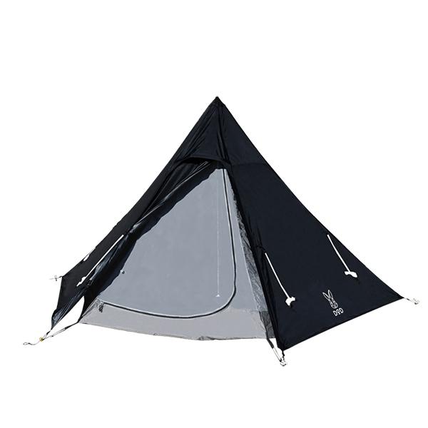 DOD T3-44-BK ブラック [ワンポールテントS] アウトドア キャンプ レジャー BBQ バーベキュー 2020年2月新仕様版