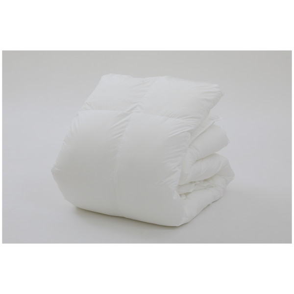 東京西川 AB00130080 キレイなふとん 掛けふとん 清潔 まるで羽毛 つぶ暖綿使用 洗える シングル ホワイト