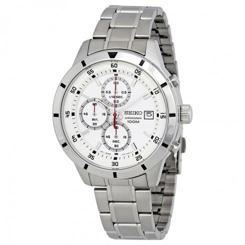 【送料無料】SEIKO SKS557 ホワイト×シルバー [クォーツ腕時計 (メンズウオッチ)] 【並行輸入品】