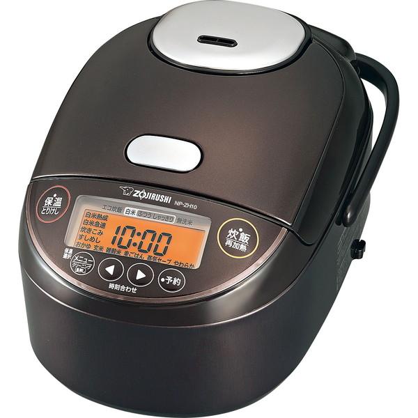 蒸らし工程で圧力をかけ 釜の中心まで高温にすることでごはんのおいしさを引き出します ZOJIRUSHI NP-ZH18-TD ダークブラウン 象印 炊飯器 in Made 極め炊き Japan:日本製 NP-ZH型 圧力IH炊飯ジャー 開店記念セール 1升炊き 上等