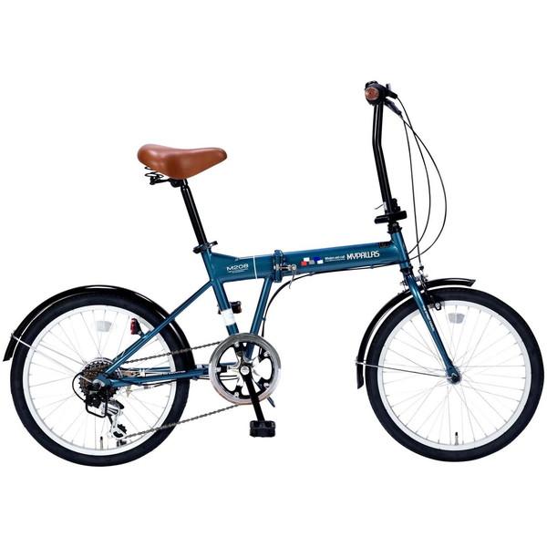 【送料無料】マイパラス M-208-OC オーシャン [折りたたみ自転車(20インチ・6段変速)]【同梱配送不可】【代引き不可】【本州以外配送不可】 通勤 通学 学生 OL 街乗り 買い物 アウトドア サイクリング 運動 スポーツ 春 入学 プレゼント 祝