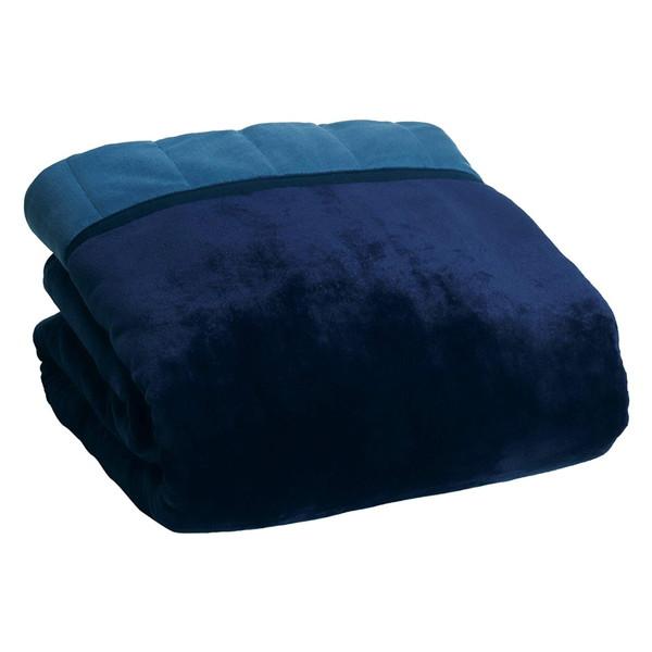 商品追加値下げ在庫復活 掛けても敷いても使えて消臭機能もある電気毛布です 広電 価格 交渉 送料無料 CCBC802NS 電気掛敷毛布 ネイビー 200×140cm