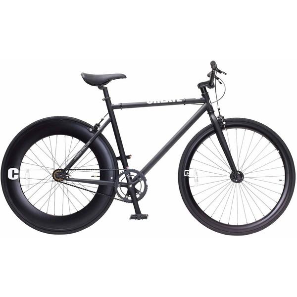 【送料無料】TOP ONE C100-460-BK ブラック CREATE [クロスバイク(700×25C・フレーム460mm)]【同梱配送不可】【代引き不可】【沖縄・離島配送不可】