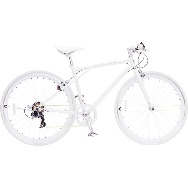 【送料無料】TOP ONE C210-460-WH ホワイト CREATE [クロスバイク(700×28C・フレーム460mm・6段変速)]【同梱配送不可】【代引き不可】【沖縄・離島配送不可】