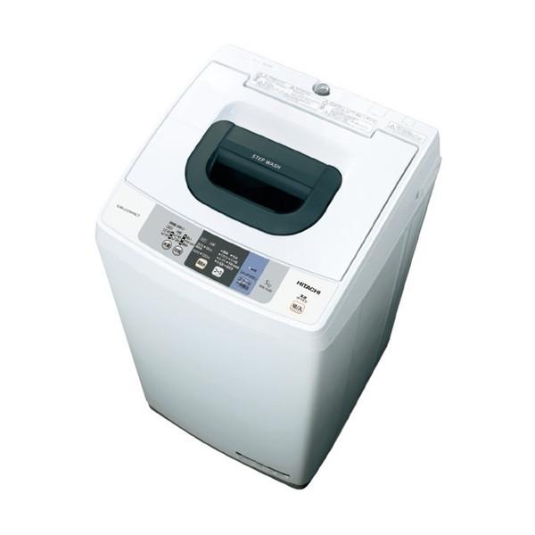 【送料無料 ピュアホワイト】日立 NW-50B NW-50B ピュアホワイト [全自動洗濯機(洗濯5.0kg)], 三根町:a6890ff0 --- kanda.ayz.pl