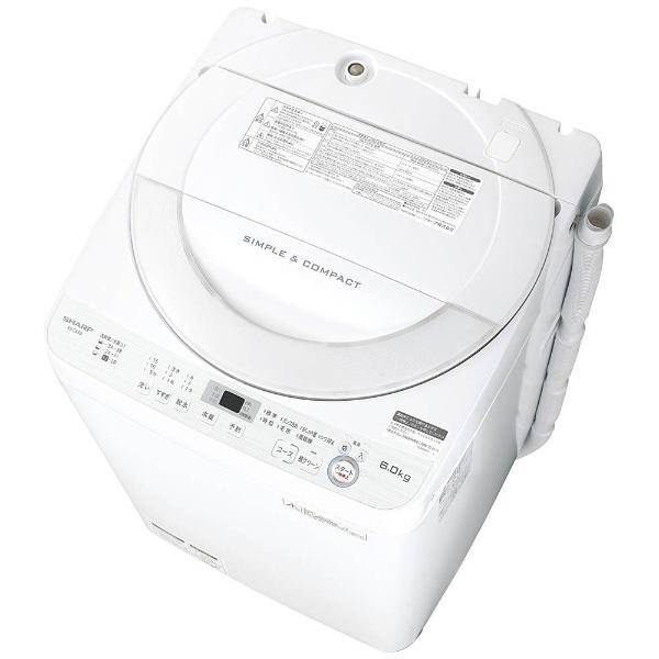 【送料無料】SHARP ES-GE6B [簡易乾燥機能付洗濯機(6.0kg)]