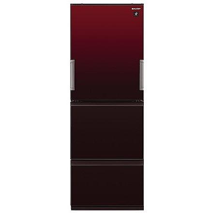 【送料無料】SHARP SJ-GW36D-R グラデーションレッド [冷蔵庫(356L・左右フリー)] 【代引き・後払い決済不可】【離島配送不可】