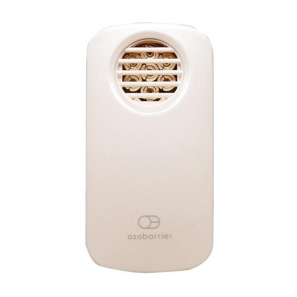 オゾンのバリアでいつでもどこでもあなたのプライベート空間を快適に保ち、身の周りの気になるニオイや花粉・ウィルス・などを脱臭・除菌 エクレール 20-7R-W パールホワイト ozobarrier(オゾバリア) [低濃度オゾン発生器]