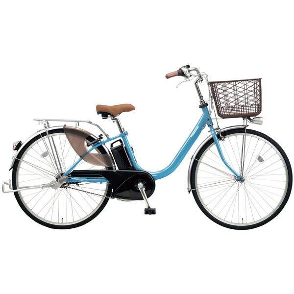 【送料無料】PANASONIC BE-ELLU432-V2 ターコイズブルー ビビ・LU [電動自転車(24インチ・内装3段変速)]【同梱配送不可】【代引き不可】【本州以外配送不可】