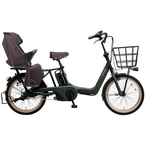 【送料無料】PANASONIC BE-ELA03-AG マットディープグリーン ギュット・アニーズ [電動自転車(20インチ・内装3段変速)]【同梱配送不可】【代引き不可】【本州以外配送不可】