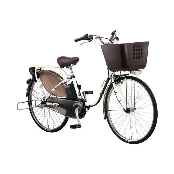 【送料無料】PANASONIC BE-ELKD63-F プレミアムホワイト ビビKD [電動アシスト自転車(26インチ・内装3段)]【同梱配送不可】【代引き不可】【本州以外配送不可】