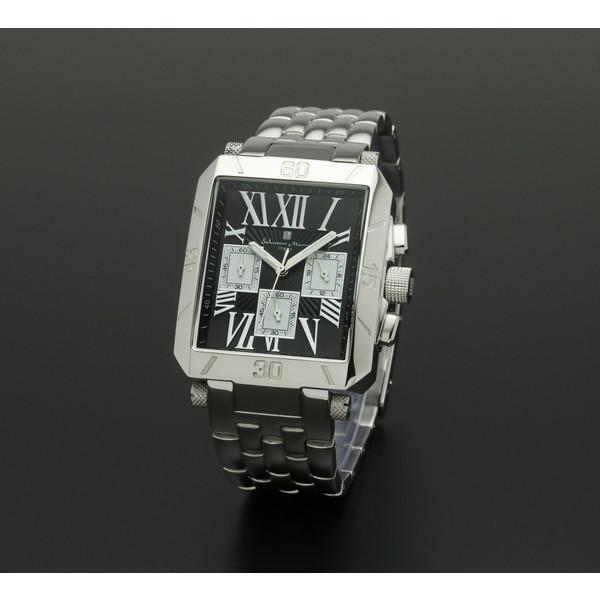 【送料無料】Salvatore Marra SM17117-SSBKSV ブラック/シルバー [クォーツ腕時計 (メンズ)]